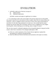 EVOLUTION questions
