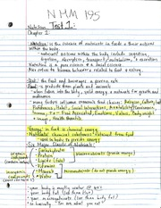 NHM 195 Nutrition Notes