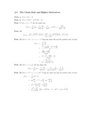 Homework+Solutions on Chain Rule and Higher Derivatives
