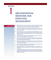swe59088 ch01web 1 c h a p t e r organizational behavior and effective management organizational behavior is the study of how people act, think, and feel in organized settings the roots of the field go back thousands of years since the 1900s, major perspectives on organizational behavior have included scientific management, the human relations approach, and the contingency approach.