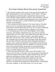 The Great Gatsby Movie Discussion Questions