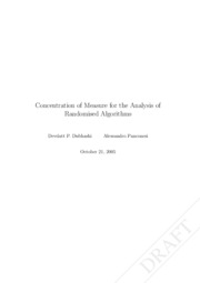 Concentration of Measure for the Analysis of Randomised Algorithms
