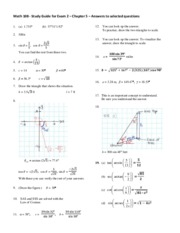 Math 108 Exam 2 Study Guide Solutions