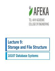 10107 Lecture 9 -- Storage and File Structure - שאלות אמריקאיות 5 שאלות כל אחת 2.pptx