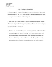 Unit 7 Research Assignment 1