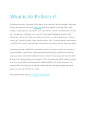 What is Air Pollution.docx