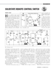 SOLIDSTATE REMOTE CONTROL SWITCH