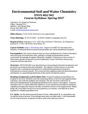 Environmental Soil and Water Chemistry Course Syllabus 2017.pdf