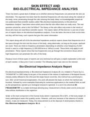 Skin Effect and Bio-Impedance Analysis II.PDF