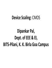 Device Scaling (Topic - 2).pdf