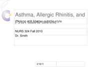 Asthma, Allergic Rhinitis, and Cold Medications