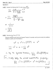 Math 121 Test 1 Version 1 Solutions