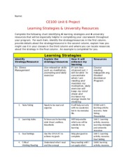 CE100 Unit 6 Assignment Template