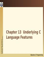 13. Underlying C Language Features.ppt