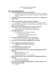 Exam 1 Guide Psych 2330