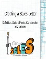 English Sales Letter Final Ppt Creating A Sales Letter Definition
