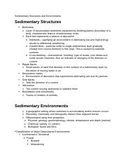 7.2 - Sedimentary Structures and Environments.docx