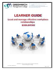 LG - Lead and manage effective workplace - BSBLDR502 (1).pdf