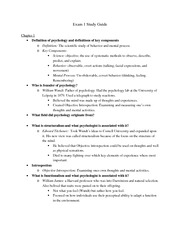 Psyc 107 Study Guide 1