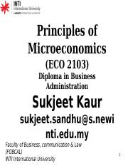 Principles of  Microeconomics- ECO 2103 -Topic 2- Price theory _Demand & Supply_.pptx