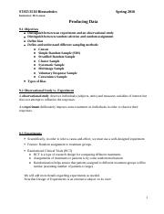 Lecture Notes 9 - Producing Data.docx