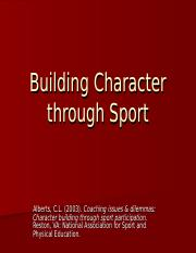 Building Character through Sport.ppt
