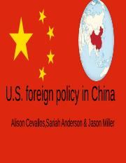 U.S Foreign policy on China
