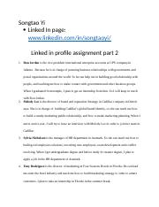 Linkedin profile assignment part 2