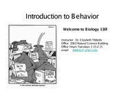 Intro to Behavior