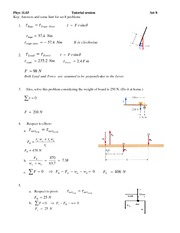 Tutorial 8 Answers - Load and Force