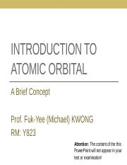 Introduction to atomic orbital