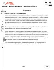 Summary  Introduction to Current Assets.pdf