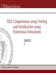 lab3 pptx - RLE Compression using Verilog and Verification