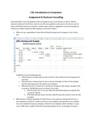 Introduction to assignment