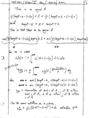 Stat 531 Exam 2 2001 Solutions