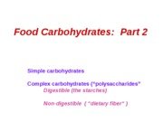 2009 Carbohydrates Part 2