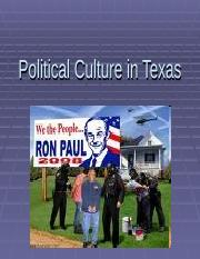 Political Culture in Texas.ppt