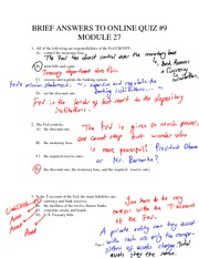 Past quizzes from Module 27