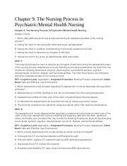 Mental Health Stuff Pdf Test Bank Psychiatric Mental Health