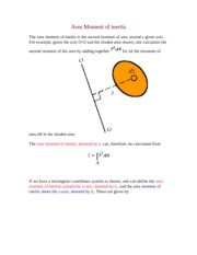 Area moment of inertia