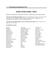 Exam 1 Study Guide - Saunders Fall 13