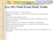 Final Exam Study Guide-May 2014