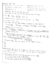 Answers for Problem Set 11