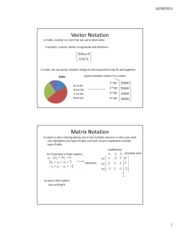 Lesson 3b - Matrix and Vector Notation
