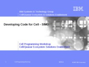 Day1-06_DevelopingCodeforCell-SIMD