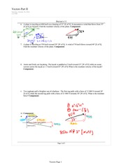 PHYS 11 Vectors Worksheet 1 Solutions