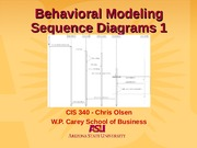 Behavioral Modeling - Sequence Diagrams1