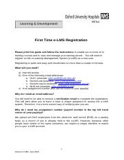First Time e-LMS Registration and e-LMS  Log in Guide (Once Registered)