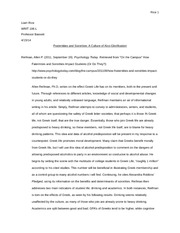 Final Analytical Essay Annotated Bibliography