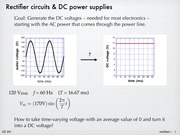 Diodes - Rectifying circuits and power supplies